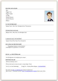 Boş Cv Örnekleri - Boş Cv Word İndir | Cv Hazırlama