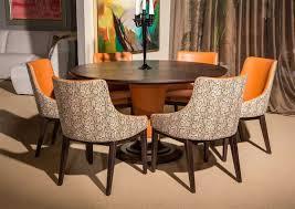 aico cosmopolitan orange round table top 54 dining room