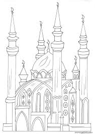 Mosque 31 Buildings And Architecture Printable Coloring Pages