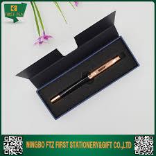 mini box for pens with black foam insert