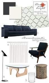 living room looks for less. blossom and bright | designer looks for less monochromatic living room #blossomandbright