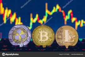 Litecoin Graph Chart Bitcoin Litecoin Ripple Coins Currency Finance Money Graph