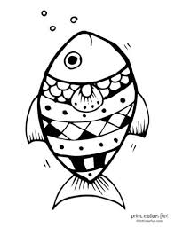 Sit and relax while you colour in this stunning fish circle colouring page, which is bound to look fantastic whichever colours you choose! Top 100 Fish Coloring Pages Cute Free Printables Coloring Page Print Color Fun