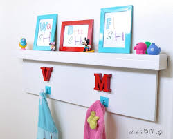 diy floating shelf with hooks al