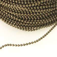 antique brass plate 1mm diamond cut ball chain