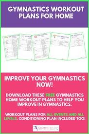 gymnastics at home workout plans