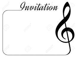 Concert Invite Template Invitation Card For Music Performance Or Concert Isolated Template
