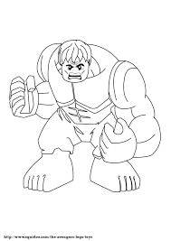 Lego avengers hulk coloring pages