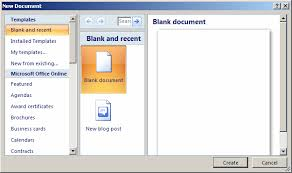 How To Do A Brochure On Microsoft Word 2007 Ms Word 2007 Create A Template From A Blank Document