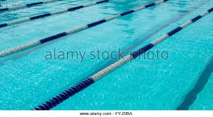 olympic swimming pool lanes. Image Of Swimming Pool. The Top View. Pool With Empty Lanes - Stock Olympic L