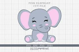 Free svg image & icon. Baby Elephant Graphic By Digitalpapers Creative Fabrica