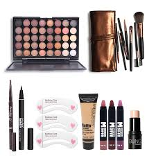 makup tool kit 8 pcs must have cosmetics including eyeshadow matte lipstick with foundation eyeliner makeup brush set ouo a one stop fashion
