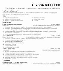 Assistant Visual Manager Resume Example Abercrombie Fitch