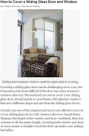 which sliding glass window treatments