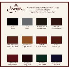 Saphir Medaille D Or Color Chart Saphir Pommadier Cream Shoe Polish
