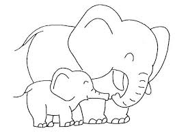 Baby Elephant Love Her Mother Coloring Page Elephants Elephant