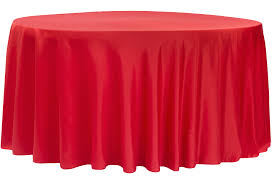 lamour satin 120 round tablecloth red