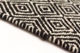 wool rug varella black white