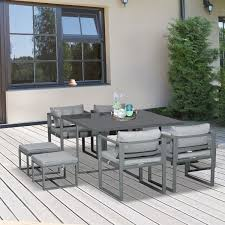 outsunny 9 pieces patio dining sets
