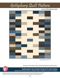 Gettysburg Downloadable PDF Quilt Pattern It's Sew Emma | Fat ... & Hover to zoom Adamdwight.com