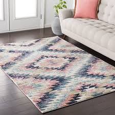 cozy ideas pink and blue area rug 1