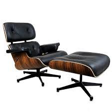 Eames Chair With Ottoman Manhattan Eames Lounge Chair Ottoman Rosewood Black Italian