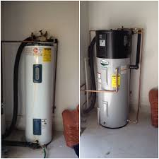 electric heat pump water heater. Perfect Heat This AO Smith Heat Pump U2013 Hybrid Hot Water Heater Was Installed In Our  Customeru0027s Garage It Replaced An Older Conventional Style Electric Tank Hot  On Electric Heater P