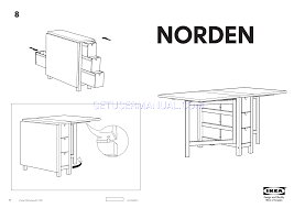 Norden Gateleg Table Ikea Tables Norden Gateleg Table 10 35 60x32 Assembly Instruction