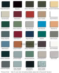 Steel Roof Color Chart Roofing Finish Your Roofing Project By Using Cool Metal