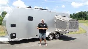 the toy hauler rv from trailers of the east coast and atc the aluminum trailer pany