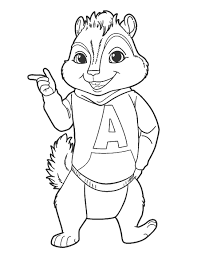Small Picture Alvin and the chipmunks coloring pages theodore seville ColoringStar