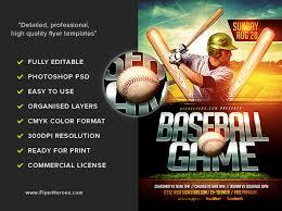 Free Baseball Flyer Template Baseball Flyer Template Flyerheroes