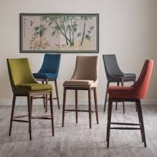 Belham Living Carter Mid-Century Modern Upholstered Bar-Height Stool