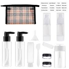 amazon wifzu plastic travel bottles for liquids tsa approved leak proof cosmetics conners for shoo lotion conditioner cream refillable travel