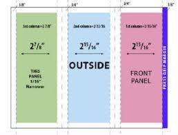 Trifold Brochure Size Page Layout Guidelines