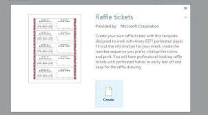 How To Get A Free Raffle Ticket Template For Word Make Tickets