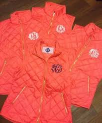 Monogrammed Quilted Vest   Monograms, Clothing and Dream closets & Coral Quilted Monogram Vest Adamdwight.com