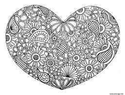 Coloriage Adulte Coeur Mandala Fleurs Zen 2017 Dessin Dessin De Mandala Coeur L