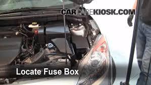 replace a fuse 2010 2013 mazda 3 2010 mazda 3 i 2 0l 4 cyl 3 remove cover locate engine fuse box and remove cover