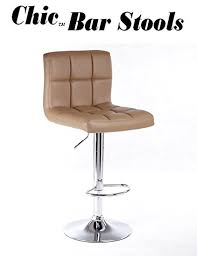 chic modern bar stools. Perfect Chic Chic Modern Adjustable Synthetic Leather Swivel Bar Stools  Camel Set Of  2 Inside E