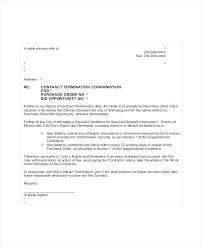 Letter To Terminate Contract With Supplier Letter Of Termination Contract With Supplier Due To No Work