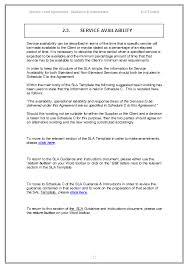 help desk service level agreement template your service level agreement template sla sample and example sla