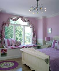 Window Seat Decorations Beauty White Window Seat With Cover And Purple Wall