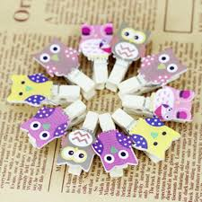 <b>Hot Sale Lovely</b> Cartoon <b>Owl</b> Shaped Wood Paper Photo Clip Photo ...