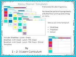 Preschool Page Borders Preschool Menu Template Storywave Co