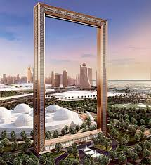 a digitalized image of what the dubai frame will look like once construction is completed