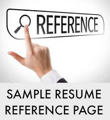 How To Create A Reference Page For A Resumes Resume Reference Page Example