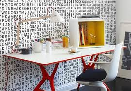 wallpapered office home design. Astonishing Home Office Interior Design Ideas Remodeling Inspirations Cpvmarketingplatforminfo Wallpapered E