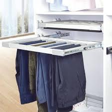 spanish design wardrobe silver pants rack trousers rack