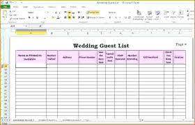 Wedding Template Guest List Excel Best Invite For